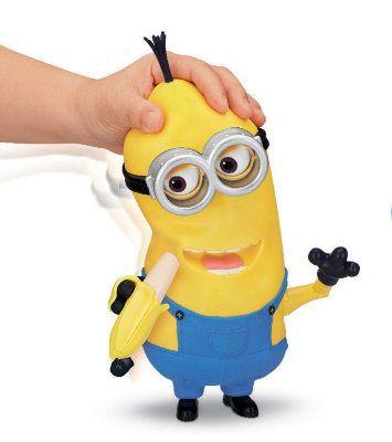 Миньон Кевин с бананом. Размер игрушки 27 см.
