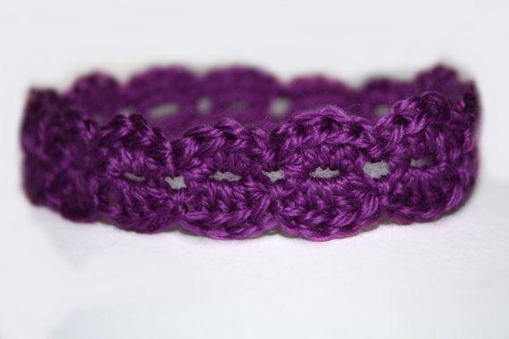 Newborn baby Girl Purple Lacy Shell by TooLegitToKnitToo $5