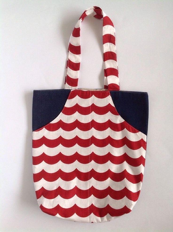 Ladies Handmade Nautical Eco Shopper tote Beach school library or casual bag