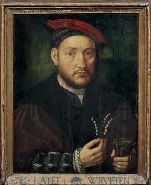 Portrait of a man 1533. Northern Nederlands. Oil on panel