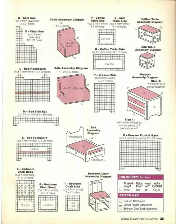 Bright Image Throughout Free Printable Dollhouse Furniture Patterns In 2020 Doll Furniture Patterns Plastic Canvas Plastic Canvas Patterns