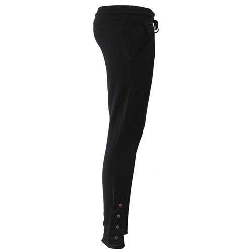 Urban Fashion, basic jogging lounge legging met nep leer detail zwart