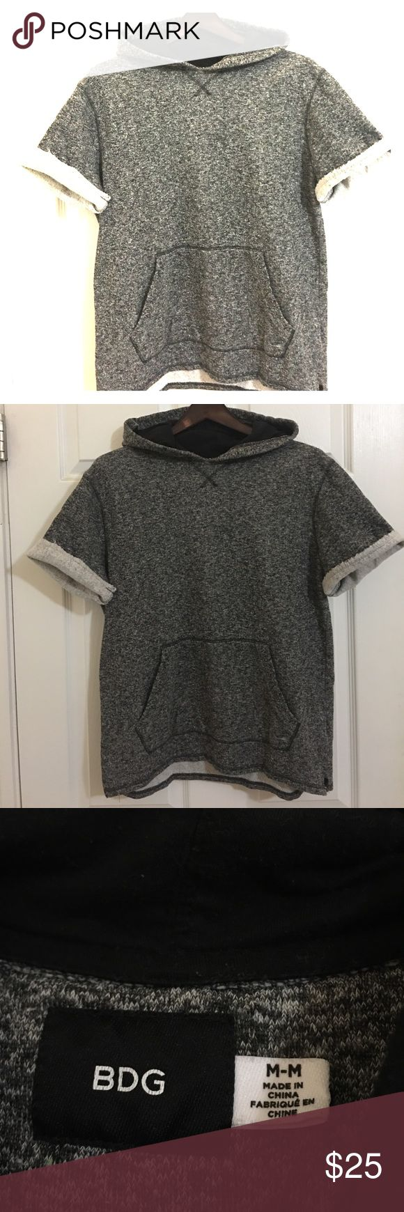 Urban Outiftters Cut Off Sleeve Hoodie Urban Outifitters / Marled Gray / Cut off Sleeve / Hoodie / Medium / Perfect with Joggers and statement sneakers for a casual weekend look Urban Outfitters Shirts Sweatshirts & Hoodies