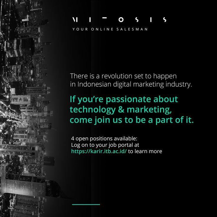 JOIN! #vacancy from Mitosis as  1. UI/UX Designer >> http://bit.ly/2iiWcqF DEADLINE: 31 Januari 2017  2. Digital Marketing Executive >> http://bit.ly/2jj3Mmj DEADLINE: 9 February 2017 #itbcc #karirITB #ITBcareer