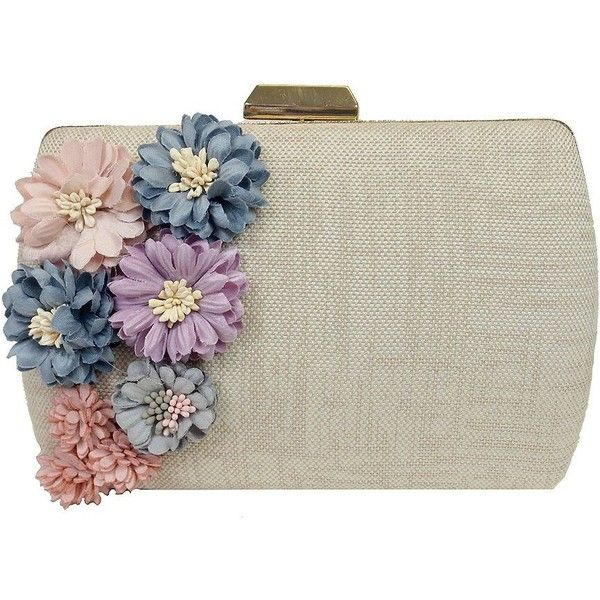 Sondra Roberts Women's Straw Box Convertible Clutch (1.820.720 VND) ❤ liked on Polyvore featuring bags, handbags, clutches, natural, sondra roberts purse, floral print purse, floral purse, straw purse and embellished handbags