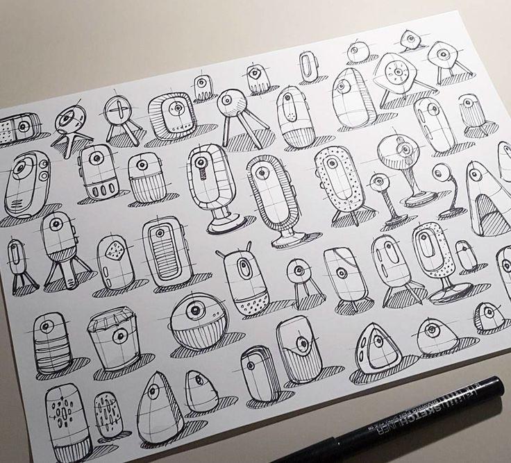 Selected analog Sketches (sometimes digital edited).