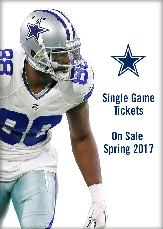 Cowboys Single Game Tickets | Dallas Cowboys