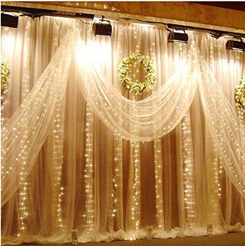 Curtains Ideas curtain lights for bedroom : 15 Must-see Fairy Light Curtain Pins | Tulle curtains, Curtain ...