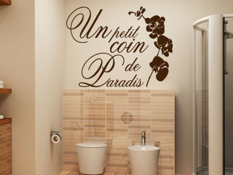 1000 id es sur le th me stickers wc sur pinterest for Autocollant porte wc