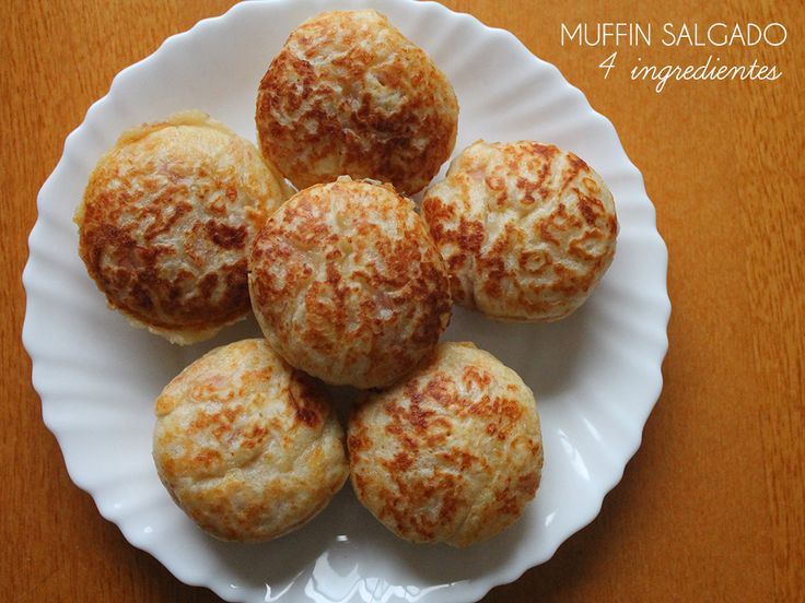 Muffin Salgado | 4 Ingredientes