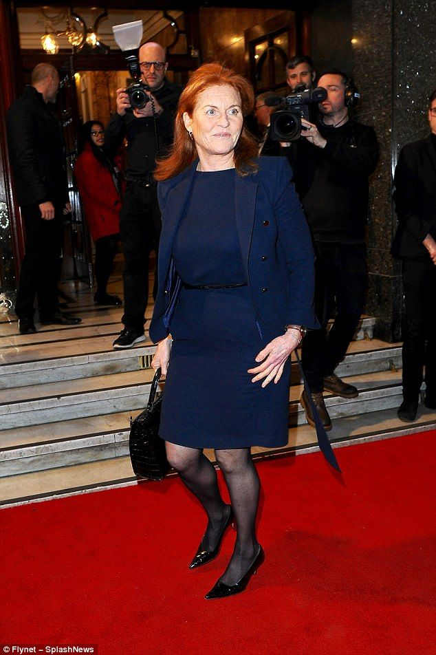 The Duchess of York was among the many stars to attend an event honouring the late Bruce Forsyth on Wednesday