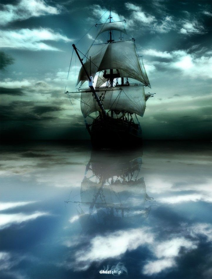 Ghost Ship   Andare in barca, Paesaggi, Pittura di ...