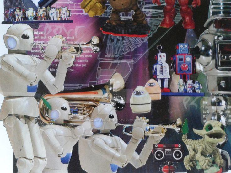 Robot orchestra by Maria-the-artist on DeviantArt