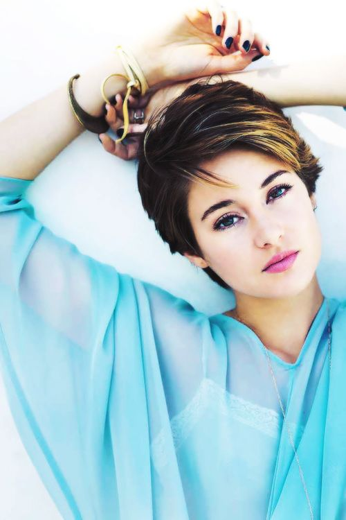 Shailene Woodley - Love this talented young woman's cute short hair!