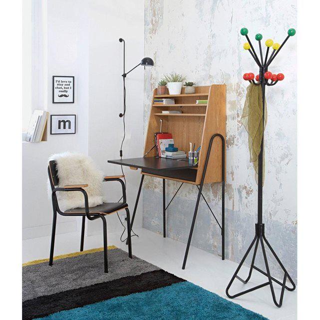 Bureau secrétaire rétro QUILDA. Ses lignes d'inspiration 50's donnent un look rétro original à votre intérieur