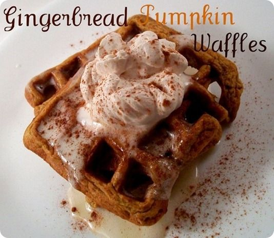 Gingerbread Pumpkin Waffles - Food for the fall