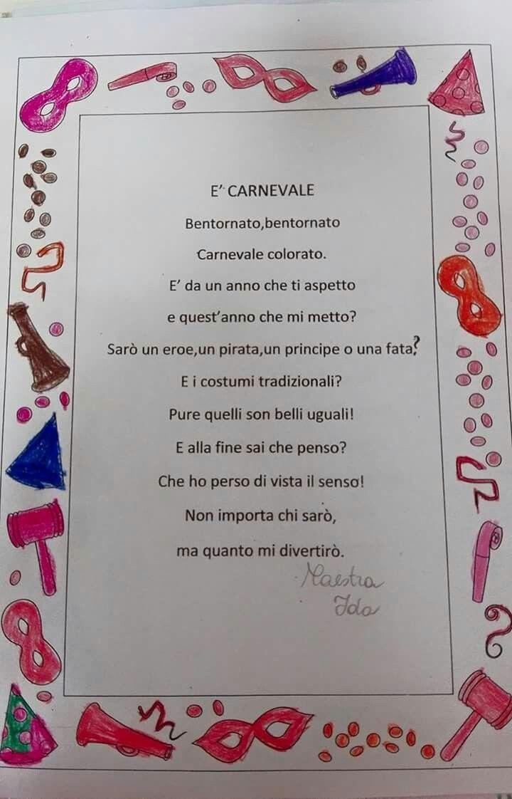 Una mia #poesia #carnevale