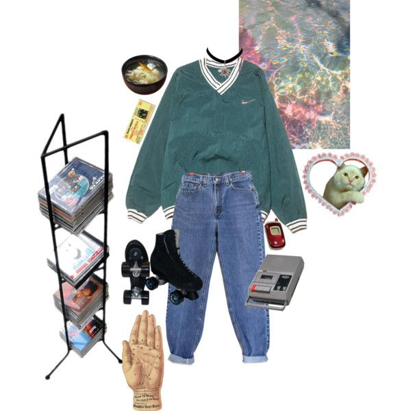 Ozzy by walking-in-circles on Polyvore featuring NIKE, Levis, Pangaea Home and Garden, Riedell, CASSETTE, Samsung and Ødd.