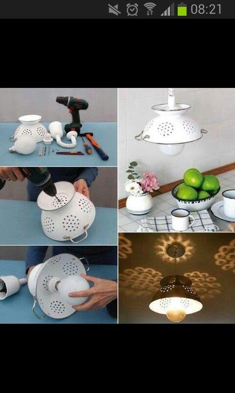 Lamp van vergiet maken.