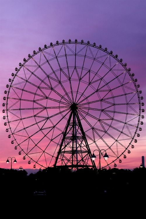 A ride on the ferris wheel...Looking out over everything