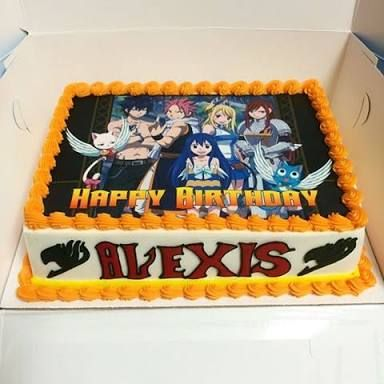 Fairy Tail Birthday Cake