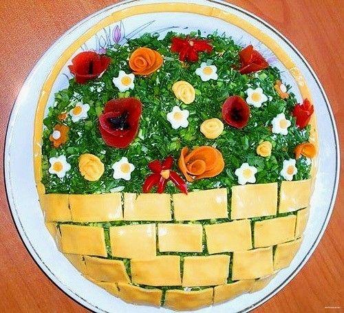 Вкусная еда: салаты с плавленым сыром