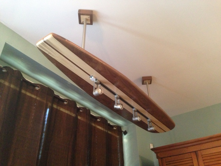Surfboard Track Light with Brushed Nickel Track Light by MarkerSix, $799.00