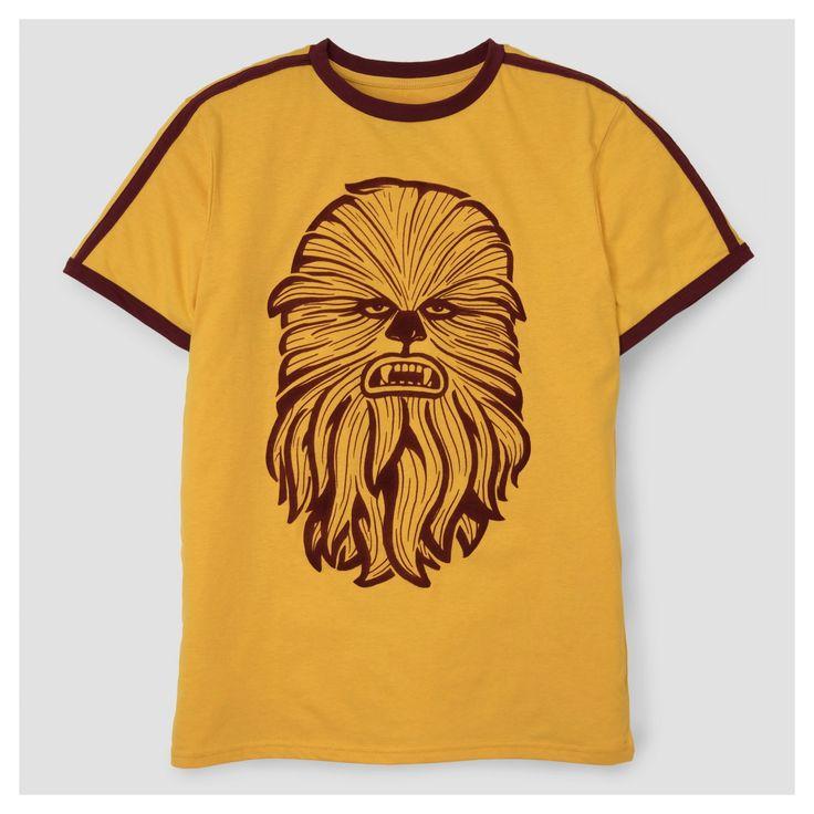 Men's Star Wars Chewbacca Flocked T-Shirt - Gold M