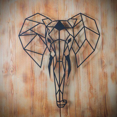 Metal Plaka - Elephant ev dekorasyonu,dekorasyon fikirleri,duvar dekorasyonu,iç dekorasyon,ofis dekorasyonu,metal dekoratif ürün,geometrik metal pano,geometrik hayvan figürü,geometrik fil,fil,tasarım,hediye,hediye fikirleri,hediyelik eşya www.hoagard.com