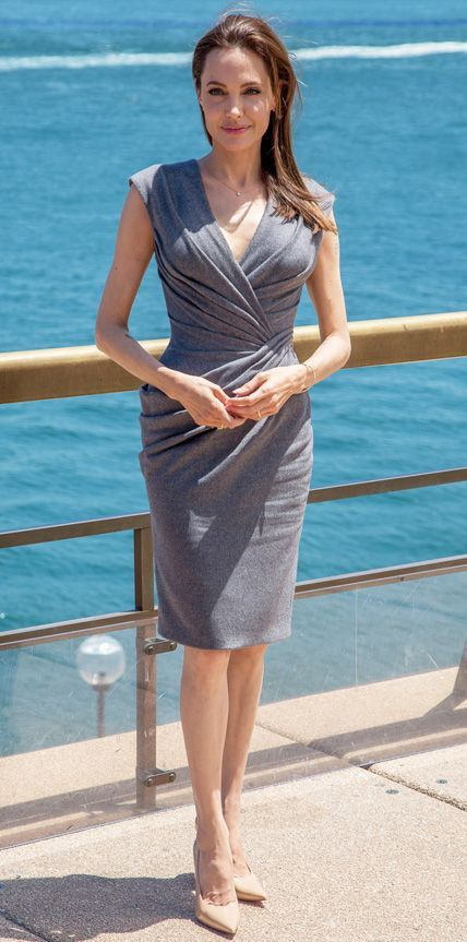 Look of the Day - November 18, 2014 - Angelina Jolie in Atelier Versace from #InStyle