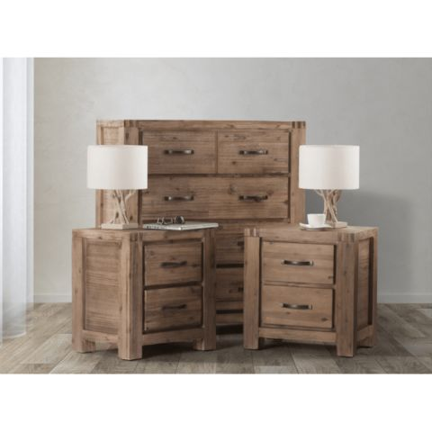 Vancouver Chest of Drawers & Pedestal Set