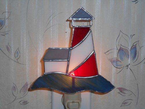 Stained Glass Lighthouse Nightlight - Handcrafted in the USA   CandJMountainGlass - Glass on ArtFire
