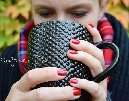 #autumn #nails #tea #red
