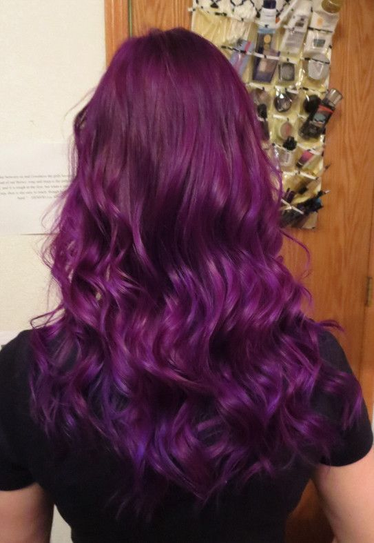 This is Almost exactly what I want for my hair color!!  (Manic Panic Purple Haze & UltraViolet) -