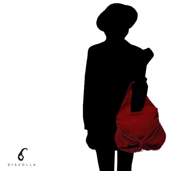 bolsa juju vermelha com franjas