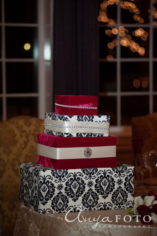 Wedding Gift Table anyafoto.com, #wedding, wedding gift box, wedding card box, victorian print wedding card box, red velvet wedding card box, wedding card box ideas, wedding card box designs