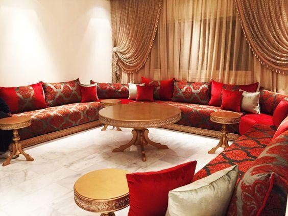 #decorationmarocains Album De Salon;catalogue Salon Marocain;salon 2109,  Salon Rouge, Le Salon Marocain, Image De Salon, Moderne Salon 2019 ...