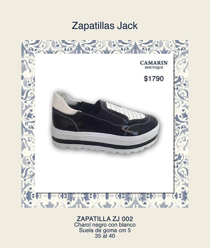 #Zapatillas Jack #Charol #negro con #blanco. Suela de goma 5cm https://www.facebook.com/media/set/?set=a.768323559857766.1073741948.149353421754786&type=3