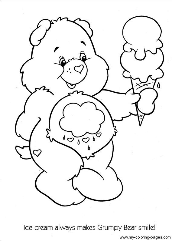 Care Bears Coloring Pages With Ice Cream