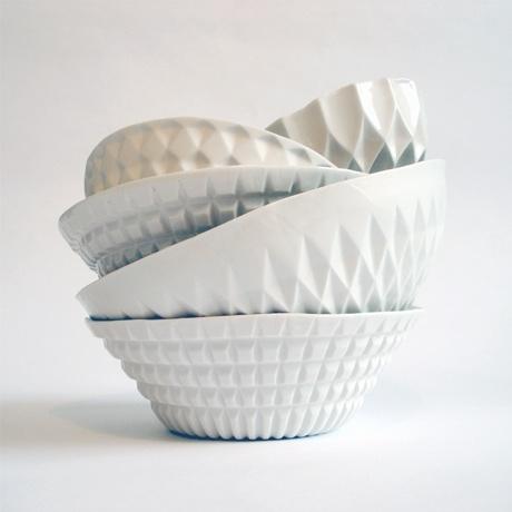 Verena Stella ceramicsKitchens, Ceramics Design, Verena Stella, Geometric Bowls, White Bowls, Perfect Things, Stella Ceramics, Perfect Pots, Ceramics Bowls