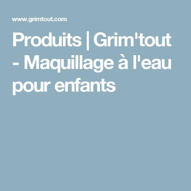 Produits |  Grim'tout - Maquillage à l'eau pour enfants