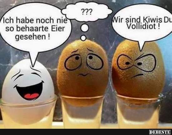 Ich habe noch nie so behaarte Eier gesehen!   Lustige Bilder, Sprüche, Witze, echt lustig