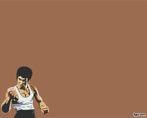 58 best sport powerpoint templates images on pinterest templates bruce lee powerpoint with fighter in the brown background color slide toneelgroepblik Image collections