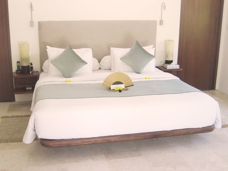 MODERN Bedroom by Canela Bali.  Modern wooden bed and nightstand.  Get your own on https://www.canelabali.com/canelabalibedroom
