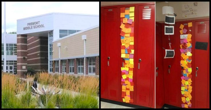 When two students lost their mother, the school rallied together to provide notes of encouragement on their locker during the time of loss. Such a thoughtful way to help grieving middle school students.