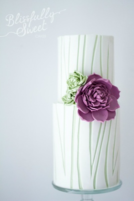 Double barrel cake with succulents - Blissfully Sweet