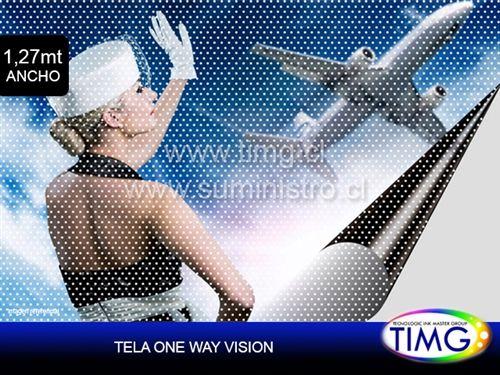 Film One Way Visión - todo tipo de impresoras Solvente & Ecosolvente -120um -120g #TIMG #Chile #Contáctenos