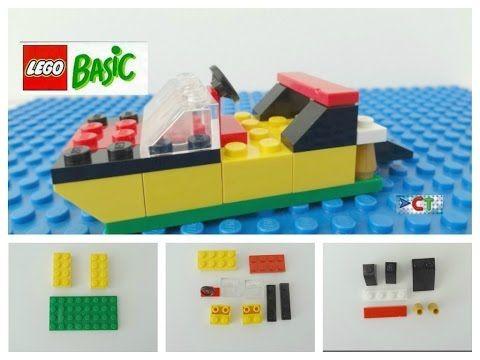 LEGO Easy Tutorial Boat  How to build Speedboat Lego Basic Instruction - YouTube
