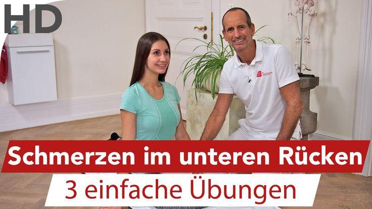 Rückenschmerzen // 3 Effektive Rückenübungen gegen Schmerzen im unteren … Sandra Vollertsen