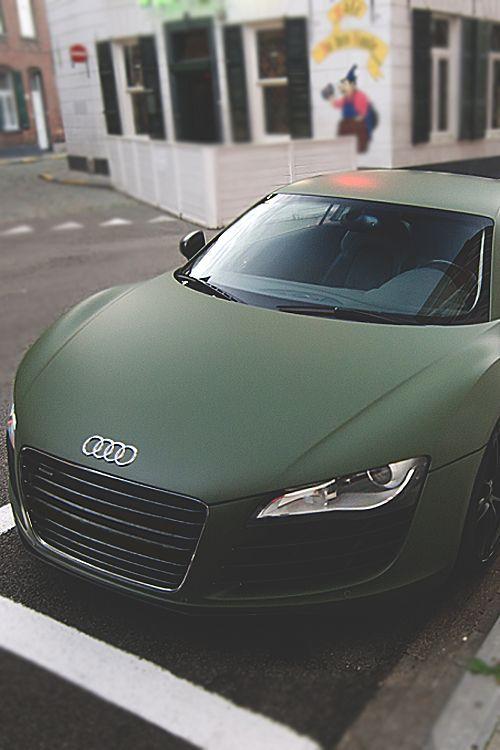 hat mir den Atem genommen. Es ist einfach perfekt. Mattgrüner Audi R8 – #Atem #… – Cars